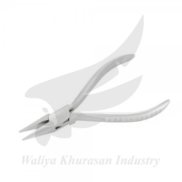 WATCHMAKING CHAIN NOSE PLIERS GROOVE HANDLE 130MM