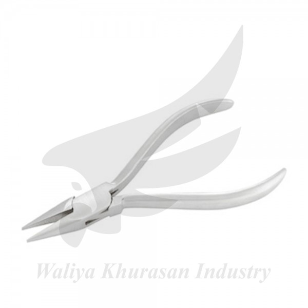 WATCHMAKING CHAIN NOSE PLIERS PLAIN HANDLE 130MM