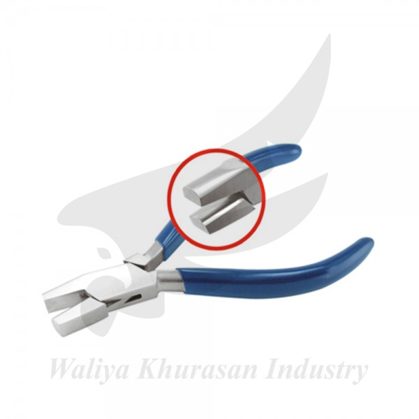 SHORT FLAT AND HALF ROUND PLIERS 145MM