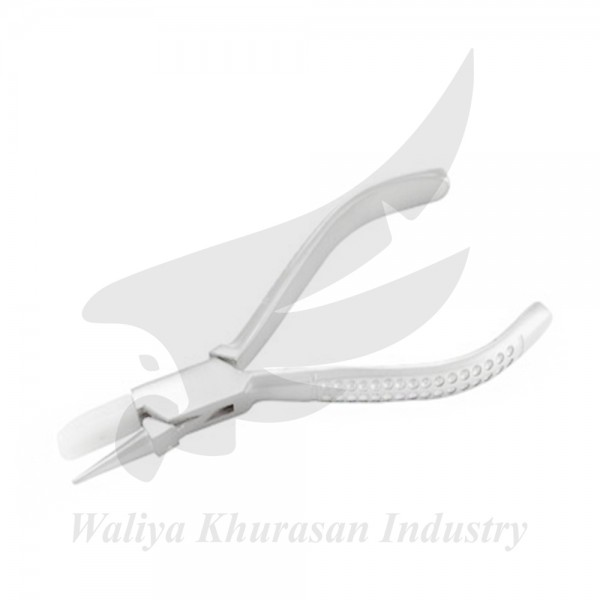 OPTICIAN FLAT AND ROUND NYLON JAW PLIERS 150MM FANCY HANDLE