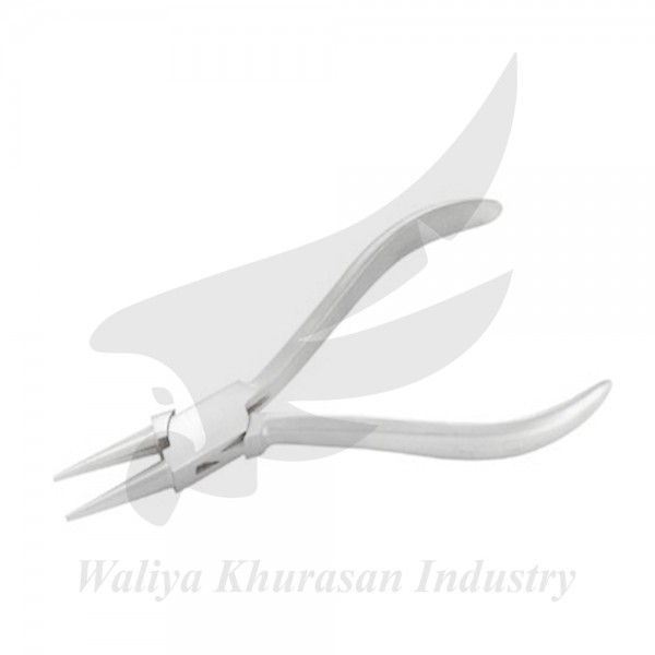 WATCHMAKING ROUND NOSE PLIERS PLAIN HANDLE 130MM