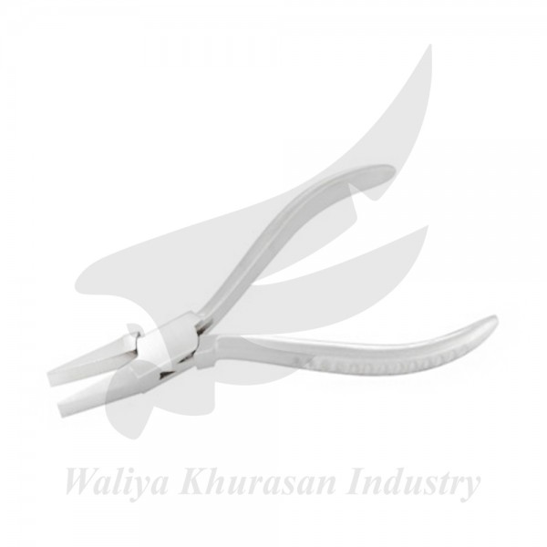 FLAT NOSE PLIERS GROOVE HANDLE 130MM