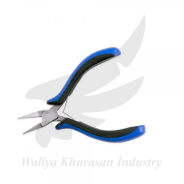 BLACK AND BLUE ERGONOMIC FLAT NOSE PLIERS 115MM