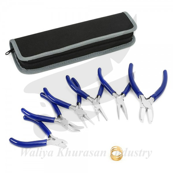 7-PIECE JEWELERS PLIERS SET JEWELRY TOOLS KIT WITH EASY CARRYING POUCH