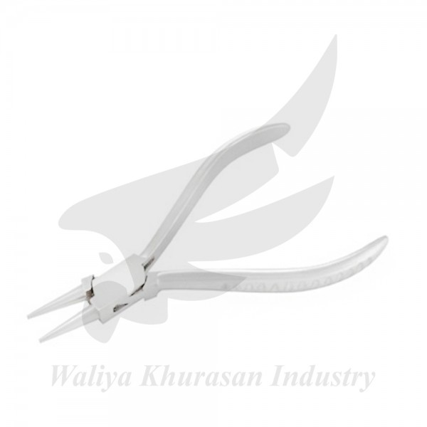 ROUND NOSE PLIERS GROOVE HANDLE 130MM