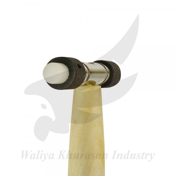 HAMMER WITH REPLACEABLE BRASS AND NYLON FIBER HEAD
