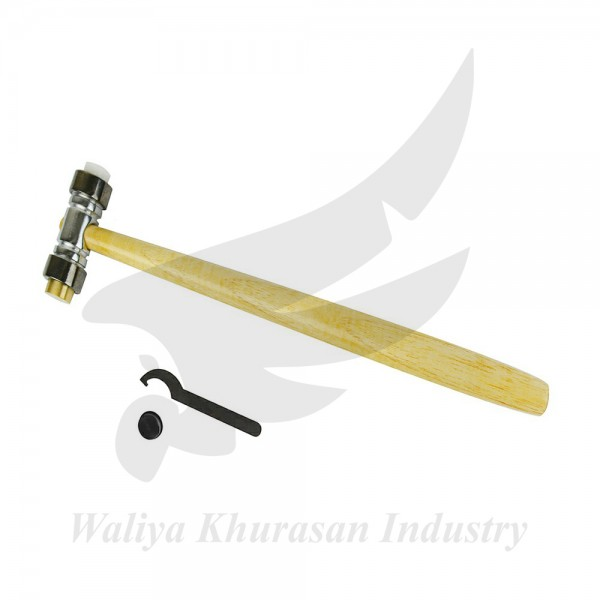 4 OZ BRASS AND NYLON HAMMER WITH WRENCH