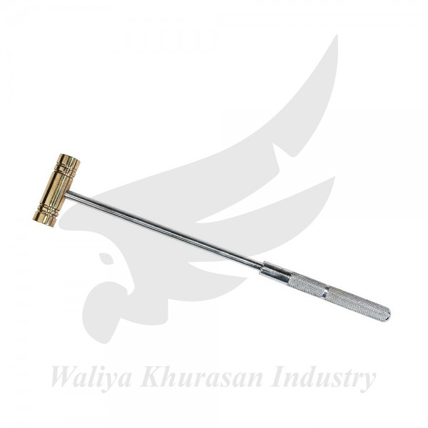 9 INCHES BRASS HAMMER WITH STEEL HANDLE