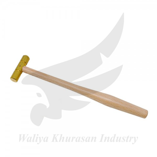 BRASS MALLET WITH FLAT AND DOMED FACE