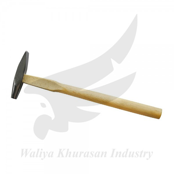 9 INCHES FRENCH STYLE GOLDSMITH RIVETING HAMMER WITH FLAT-ROUND AND CHISEL-SHAPED HEAD