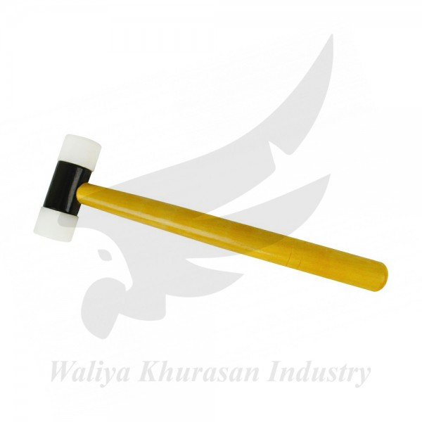 NYLON HAMMER WITH WOODEN HANDLE