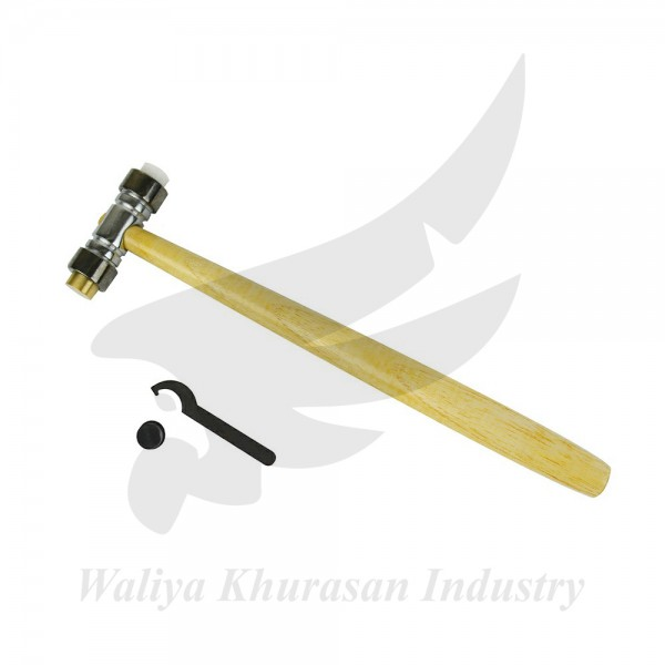 4 OZ BRASS AND NYLON TEXTURING HAMMER WITH WRENCH