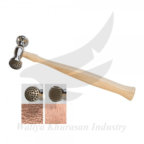 ROUND DIMPLES AND NARROW PINSTRIPE TEXTURING HAMMER