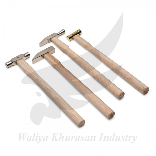 TOOLS SET OF FOUR LONG-HANDLE SMALL HAMMERS