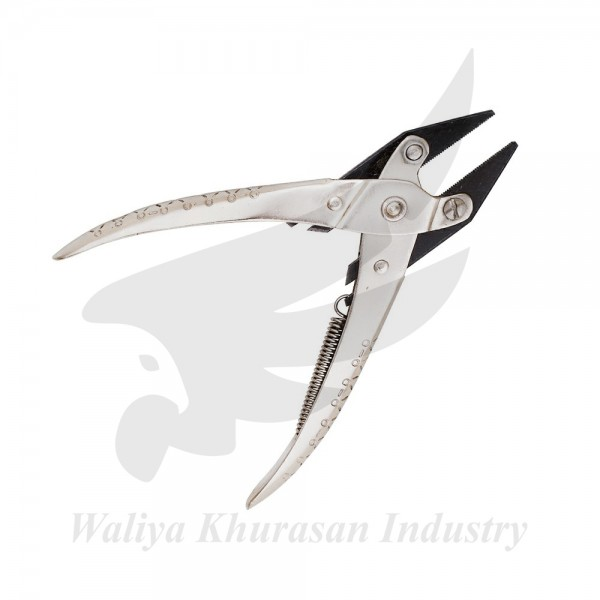FLAT NOSE PARALLEL PLIER WITH SERRATED JAWS
