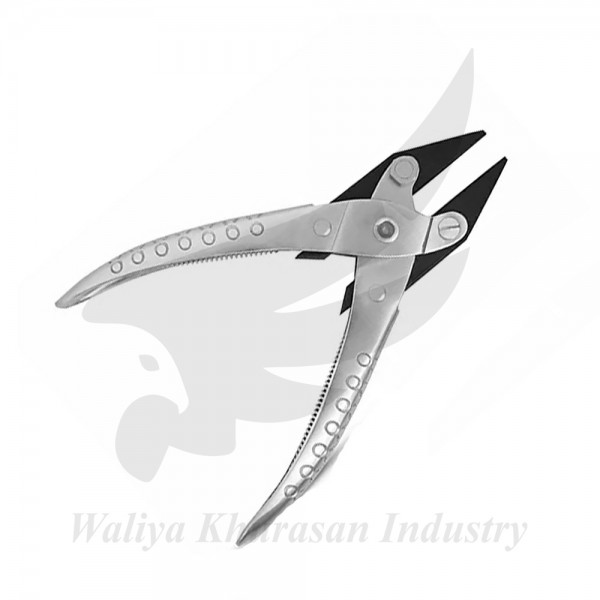 PARALLEL FLAT NOSE PLIERS 140MM DOUBLE SPRING