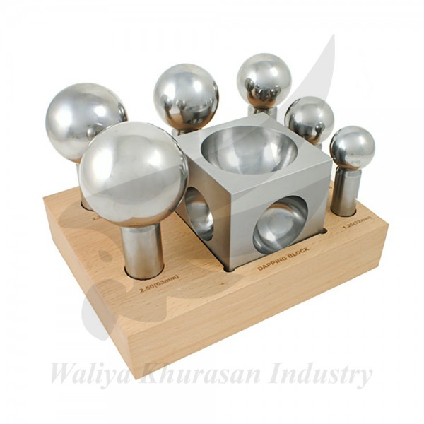 EXTRA LARGE 6-PIECE STEEL DAPPING DOMING BLOCK SET