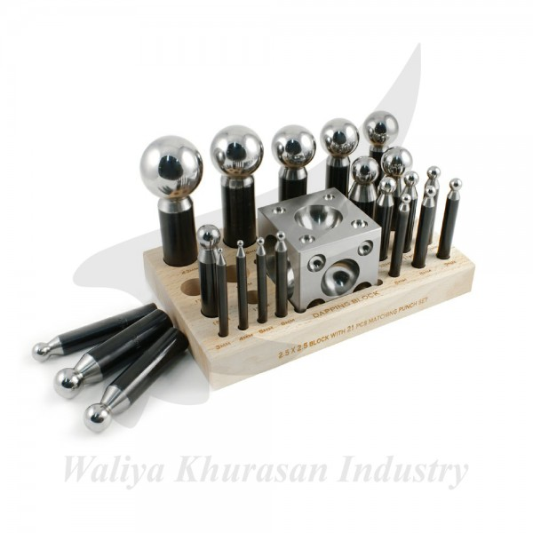 PROFESSIONAL 23 PIECE DAPPING SET - 3 TO 43 MILLIMETER PUNCHES