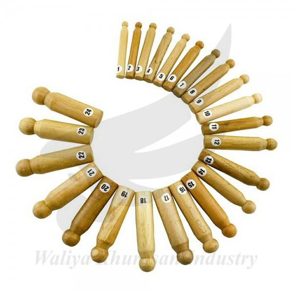 24 PIECES WOOD DAPPING PUNCH SET